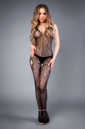 Грас. Сетка Mesh hip-hop bodystocking with openings black, S...